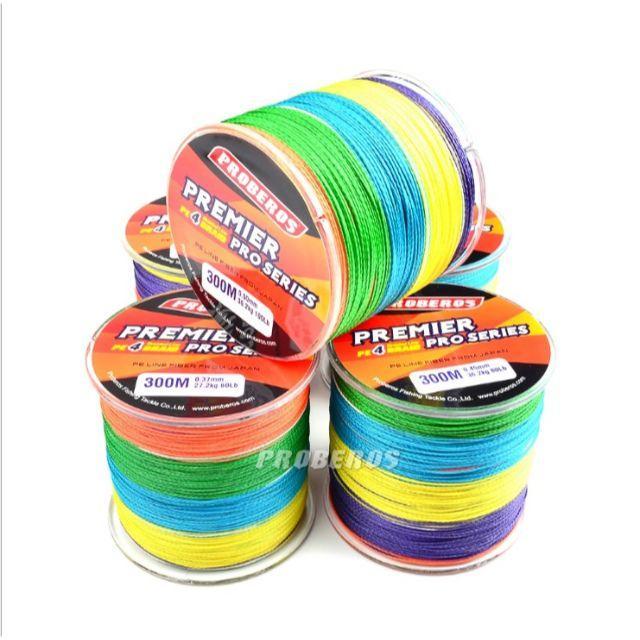 PEライン 高強度 PRO 3号 35lb・500m巻き 5色 カラー 釣り糸 スポーツ/アウトドアのフィッシング(釣り糸/ライン)の商品写真