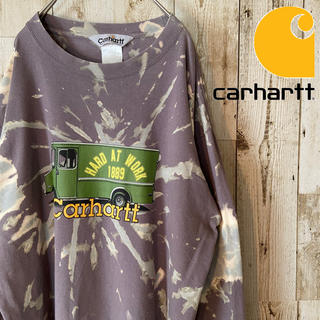 carhartt - Carhartt/ 90's  ブリーチ ビッグロゴ カットソー メンズ ロンT