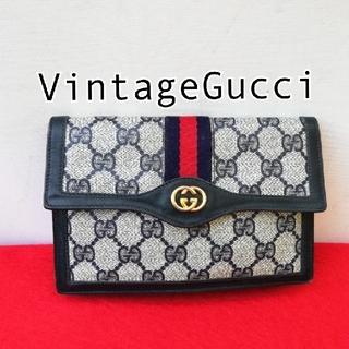 グッチ(Gucci)の2点 Gucci オールドグッチ シェリーライン ミニクラッチバッグ ミニ財布(クラッチバッグ)