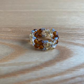 ビーズの指輪 お花②(リング)