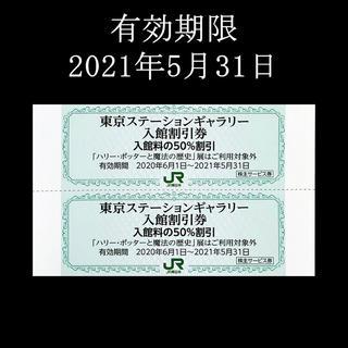 ジェイアール(JR)のJR東日本 株主優待 株主サービス券 東京ステーションギャラリー50%入館割引券(美術館/博物館)