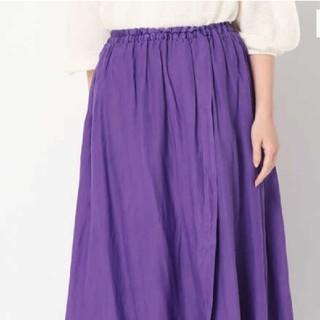 スピックアンドスパンノーブル(Spick and Span Noble)のenrica リネンロングスカート サイズ36(ロングスカート)