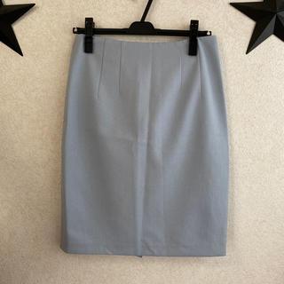 ディーホリック(dholic)の新品 韓国購入 くすみ水色 膝丈スカート(ひざ丈スカート)