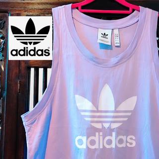 アディダス(adidas)のアディダス オリジナルス ビッグロゴ ラベンダー 紫 タンクトップ Tシャツ(タンクトップ)