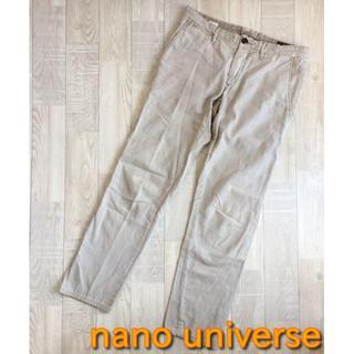 ナノユニバース(nano・universe)の【ナノユニバース】カジュアル チノパン グレー Mサイズ(チノパン)