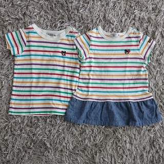 ダブルビー(DOUBLE.B)のミキハウス ダブルB Tシャツ 二枚セット(Tシャツ)
