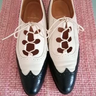 ラルフローレン(Ralph Lauren)のラルフローレン オックスフォード レースアップ ネイビー ホワイト (ローファー/革靴)