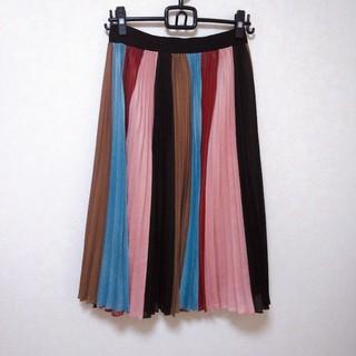 ビーシービージーマックスアズリア(BCBGMAXAZRIA)のカラープリーツスカート BCBG(ひざ丈スカート)