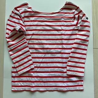 ルミノア(Le Minor)のルミノア ボーダー カットソー 赤×白 サイズ1(カットソー(長袖/七分))