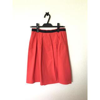 アンタイトル(UNTITLED)の美品☆ untitled スカート サーモンピンク Mサイズ(ひざ丈スカート)