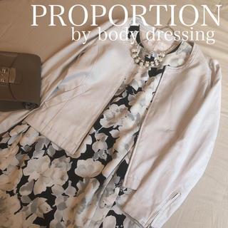 プロポーションボディドレッシング(PROPORTION BODY DRESSING)のフェイクスエード ノーカラージャケット(ノーカラージャケット)