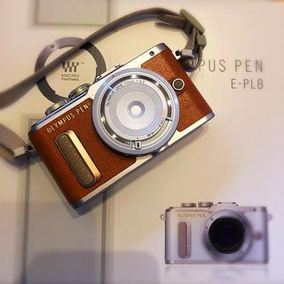 オリンパス(OLYMPUS)の【まーさま専用】美品 OLYMPUS E−PL8 E-PL8  ブラウン(デジタル一眼)