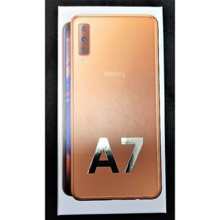 ギャラクシー(Galaxy)のGaraxy A7 64GB  ゴールド  中古品(スマートフォン本体)
