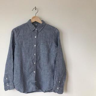 MUJI (無印良品) - 無印良品 リネンストライプシャツ S