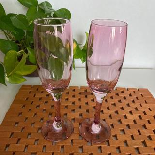 フランフラン(Francfranc)のFrancfranc◇ペアシャンパングラス ピンク(グラス/カップ)