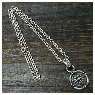エーアンドジー(A&G)のA&G クロス コイン ネックレス(ネックレス)