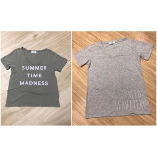 ジェイダ(GYDA)のGYDA Vネック Tシャツ2枚セット(Tシャツ/カットソー(半袖/袖なし))