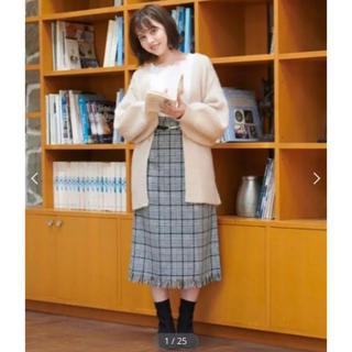 MAJESTIC LEGON - 裾フリンジチェックIラインスカート