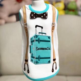 ティファニー(Tiffany & Co.)のルナブルー♡スーツケースタンク♡xxsサイズ(犬)