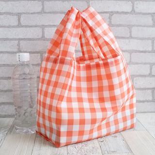 レジ袋型エコバッグ・コンビニ用サイズ オレンジ花タグ(バッグ)
