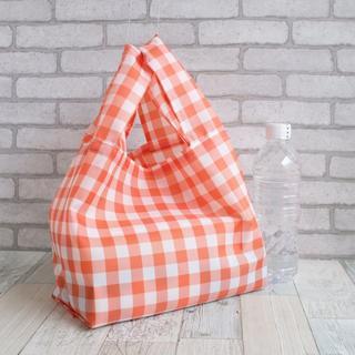 レジ袋型エコバッグ・コンビニ用サイズ オレンジ黒タグ(バッグ)