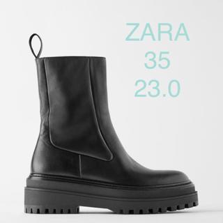 ザラ(ZARA)のタイムセール!新品 タグ付 ZARA ブーツ 23.0(ブーツ)