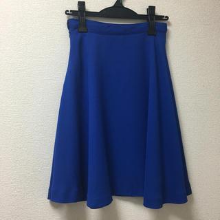 ロペ(ROPE)のロペ ROPE プリーツスカート フレアスカート スカート ブルー 青 春夏(ひざ丈スカート)