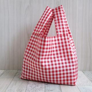 レジ袋型エコバッグ・コンビニ用サイズ 赤チェック(バッグ)