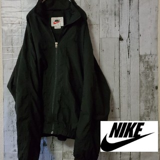 NIKE - NIKE ナイキ ブラック 黒 古着 90s ナイロンジャケット パーカー レア