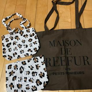 メゾンドリーファー(Maison de Reefur)のメゾンドリーファー  ショッパー  ブラウン M  新品 (ショップ袋)