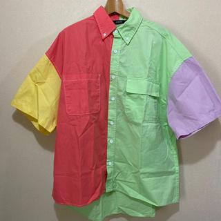カステルバジャック(CASTELBAJAC)のユニークコンビシャツ〜サイズ、フリー綿100%〜新品未使用品(シャツ)
