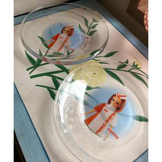 タカラトミー(Takara Tomy)のミスドとリカちゃんコラボ ガラスのお皿2枚 タカラ ノベルティ(ノベルティグッズ)