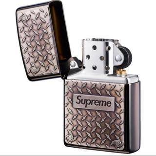 シュプリーム(Supreme)の新品未使用Supreme Diamond Plate Zippo ライター(タバコグッズ)