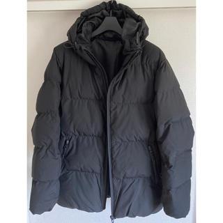 ジーユー(GU)の中綿ジャケット ボリュームフード 黒 GU ジーユー  ブラック XL(ダウンジャケット)