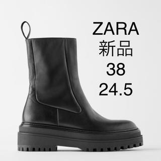 ザラ(ZARA)のタイムセール!タグ付 新品 ZARA ブーツ 24.5  38(ブーツ)