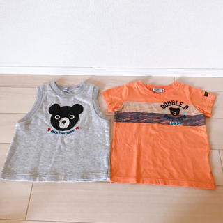 ダブルビー(DOUBLE.B)のダブルビー トップスセット 80cm(Tシャツ)