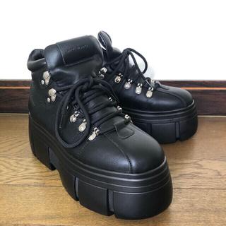 asos - 韓国 メンズ ASOS 厚底 ブーツ スニーカー 革靴 25cm