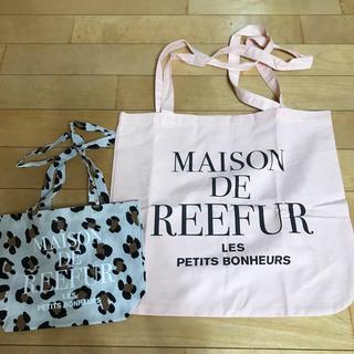 メゾンドリーファー(Maison de Reefur)のメゾンドリーファー  ショッパー  M ピンク 新品(ショップ袋)