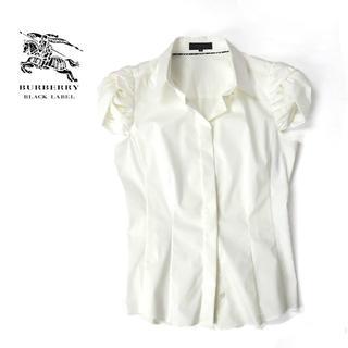 BURBERRY BLACK LABEL - 超美品★BURBERRY BLACK LABEL ドレープ袖◎ホワイトシャツ