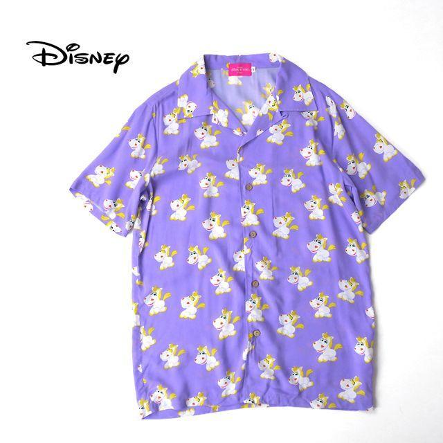 """Disney(ディズニー)のDisney ディズニー トイストーリー4 """"バターカップ"""" 総柄アロハシャツ メンズのトップス(シャツ)の商品写真"""