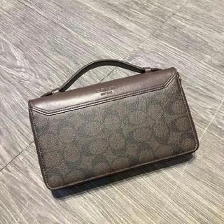 コーチ(COACH)のCOACH長財布 コーチ正規品 F93240 ブラック メンズ用財布(トートバッグ)