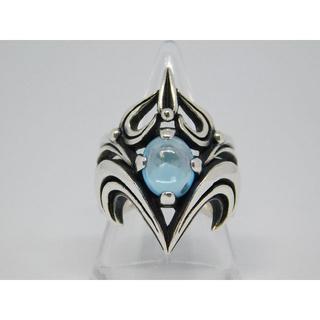 エムズコレクション(M's collection)の16号 美品 エムズコレクション ブルー トパーズ リング(リング(指輪))