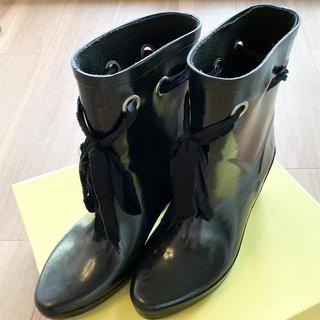 ケイトスペードニューヨーク(kate spade new york)の【USED】ケイトスペード レインブーツ 長靴 リボンブーツ(レインブーツ/長靴)