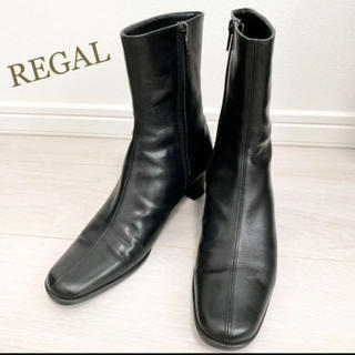 REGAL - 美品!REGAL 22.5 本革 日本製 ブラック ショートブーツ