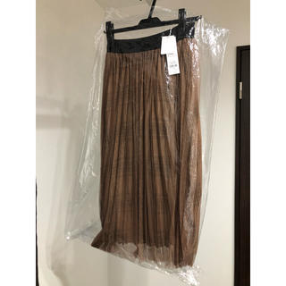 ラグナムーン(LagunaMoon)の新品未使用タグ付きプリーツチューツレイヤードスカートS(ひざ丈スカート)