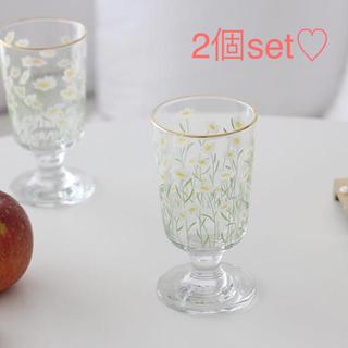 SALE‼️アウトレット品♡2個セット♡花柄グラス(グラス/カップ)