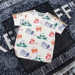 グッチ(Gucci)のグッチ and ディズニーミッキープリントリフレクティブウェブ半袖Tシャツ(Tシャツ(半袖/袖なし))