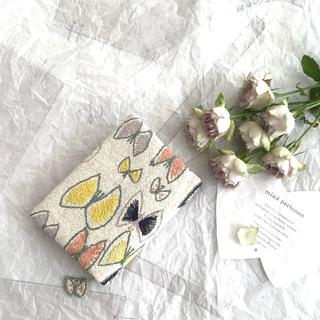 ミナペルホネン(mina perhonen)のスカイフラワーとタンバリン♡パッチのブックカバー♡文庫本♡2つ(ブックカバー)