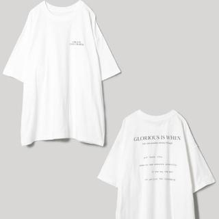ジーナシス(JEANASIS)のJEANASISバックロゴショートスリーブT(Tシャツ/カットソー(半袖/袖なし))