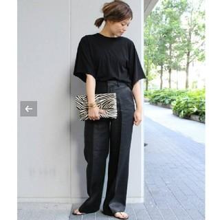 DEUXIEME CLASSE - 極美品☆ AP STUDIO Linen Wide パンツ ブラック